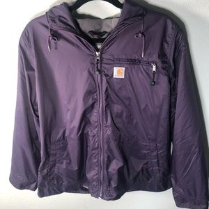Women's carhartt windbreaker jacket 💜